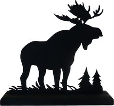 moose silhouette | Majestic Moose Hand-cut Wood Decorative Display Silhouette sawn001