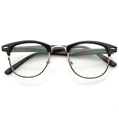 Optical Quality Horned Rim Clear Lens RX'able Half Frame Horn Rimmed Glasses - Optical Quality Horned Rim Clear Lens RX'able Half Frame Horn Rimmed Glasses Brille iDeen 👓 # - Half Frame Glasses, Fake Glasses, Cute Glasses Frames, Vintage Glasses Frames, Glasses Style, Fashion Eye Glasses, Trending Sunglasses, Optical Glasses, Earrings