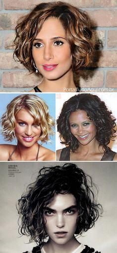 Corte de cabelo Chanel para cabelo cacheado -chanel repicado / short curly hair