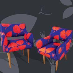 Chairs with FOLIA DU patterns and QUINQUE background/ sillas en patrón FOLIA DU y fondo en QUINQUE#lottihaeger#architecture #arquitectura #casa#color#colour#colourful couleur#design #designer #diseño#decoracion #decoration#fabric #furniture #home #homedecor #inredning #interiordesign #deco#pattern #tyger #tissu #textiles