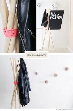 diy coat rack {also a link for a clothes rack!}
