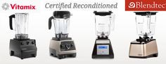Buy Certified Refurbished #Blendtec or #Vitamix blenders with #free shipping from @BlenderBabes