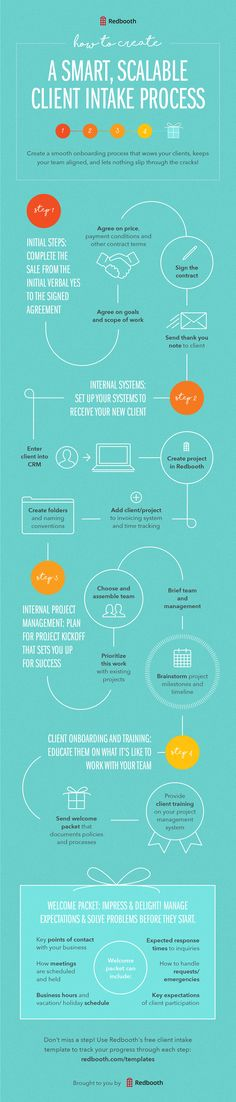 Client Intake Process Infographic