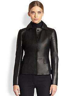 Akris Punto Nappa Leather Jacket