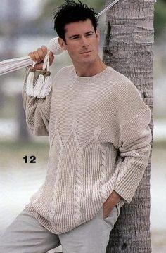 MADE TO ORDER men's crewneck Sweater turtleneck men hand knitted sweater cardigan pullover men clothing handmade men's knitting aran cabled Hand Knitted Sweaters, Wool Sweaters, Handgestrickte Pullover, Moda Emo, Winter Sweaters, Knitting Designs, Knitting Patterns, Models, Pulls
