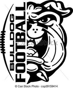 Vector - bulldog football - stock illustration, royalty free illustrations, stock clip art icon, stock clipart icons, logo, line art, EPS picture, pictures, graphic, graphics, drawing, drawings, vector image, artwork, EPS vector art