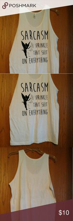 Graphic Tank Graphic phrase Tank Top.  In like new condition American Apparel Tops Tank Tops