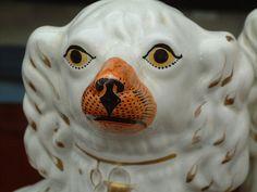 Antique Porcelain Staffordshire Dogs c1850