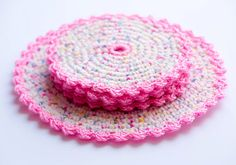Hey, I found this really awesome Etsy listing at https://www.etsy.com/listing/236226623/colourful-handmade-crochet-coaster-set