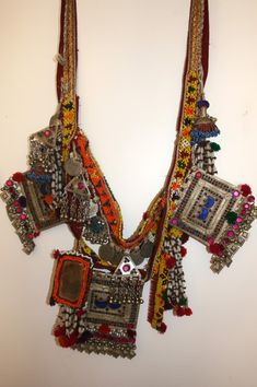 Pakistan - tribal necklace. Many talismans.  Ethnic chic!