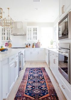 kitchen with oriental rug