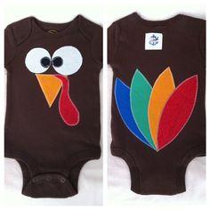 Too Cute Turkey Onesie - $16.00