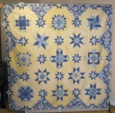 Blue and Cream Quilt