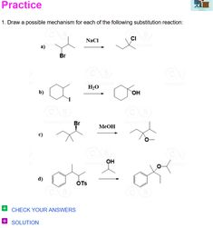 Carbocation Rearrangements in Reactions with Practice Problems - Chemistry Steps Organic Chemistry Reactions, Chemistry Classroom, Chemistry Lessons, Science Student, Biotechnology, Study Materials, Study Tips, Psych, Problem Solving