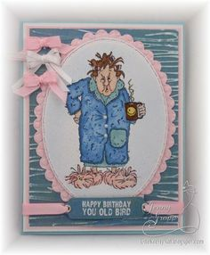 Maude by Art Impressions from Golden Oldies line. Birthday card.