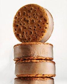OMG  Chocolate Creme Brulee ice cream sandwiches... thank you Martha !