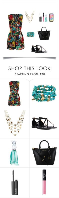 """""""Colour"""" by oksana-kolesnyk ❤ liked on Polyvore featuring Mela Loves London, Sequin, INC International Concepts, Anna Sui, NARS Cosmetics and Wildflower"""