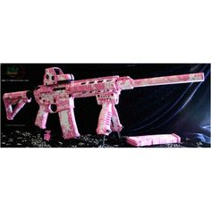 Bad ass AR 15!!! Made with HER in mind! (Not usualy a fan of light pink on a gun but I like this!)