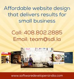 Affordable Website Design: Growth hack with Stunning #websitedesign that delivers results for #Startup, #Entrepreneur and #SmallBusiness. Call 408.802.2885 or email team@sdi.la for free consultation.   #web_design_company #custom_web_design #website_designers #affordable_web_design #web_design_and_development #custom_website_design_services
