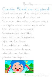 Canciones infantiles para aprender-Imagenes y dibujos para imprimir