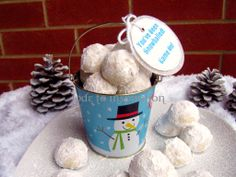 Snowball Cookies and Snowball Fight Invitation