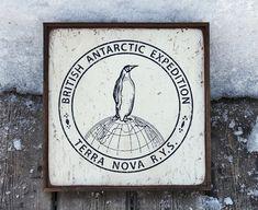 NEW Vintage wooden sign ' Terra Nova R.Y.S. ' by VASSdesign