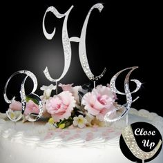 Order your monogram wedding cake toppers online and get quick delivery at your door step. Buy crystal wedding cake tops from our huge collection of cake toppers designs Monogram Cake Toppers, Wedding Cake Toppers, Wedding Cakes, Wedding Cake With Initials, Monogram Wedding, Old Hollywood Wedding, 25th Wedding Anniversary, Crystal Wedding, Monogram Initials