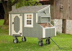 Lean-To Chicken Coop - Adirondack Storage Barns Urban Chicken Coop, Chicken Coop Kit, Mobile Chicken Coop, Building A Chicken Coop, Chicken Coop Designs, North Country Sheds, Barn Storage, Urban Chickens, Lean To