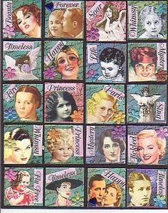 Altered art, inchies  These inspire the heck out of me. I need to jump in and try altering.