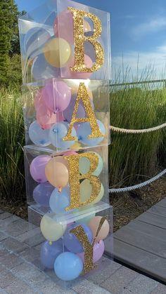 Birthday Balloon Decorations, Gender Reveal Party Decorations, Girl Baby Shower Decorations, Baby Shower Centerpieces, Baby Shower Themes, Baby Shower Parties, Baby Showers, Bridal Showers, Baby Shower Desserts