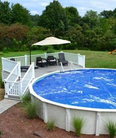 Above Ground Pools are the most effective alternative for resident who want a swimming pool however aren't ready for the much more costly choice of putting in an in-ground pool. Above Ground Pool Landscaping, Above Ground Pool Decks, In Ground Pools, Above Ground Swimming Pools, Oberirdischer Pool, Swimming Pools Backyard, Pool Fun, Intex Pool, Backyard Retreat
