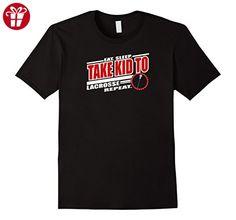 Men's Eat. Sleep. TAKE KID to LACROSSE Repeat. T-Shirt 2XL Black (*Amazon Partner-Link)