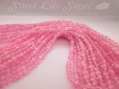 140 6mm Pink Glass Crackle Beads CA. Starting at $4 on Tophatter.com!