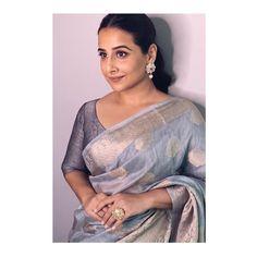 "Vidya Balan on Instagram: ""Saree - @boveeecom Makeup - @harshjariwala158 Hair - @bhosleshalaka Styled by - @who_wore_what_when"""