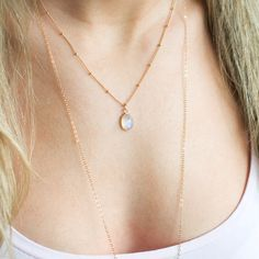 Rainbow Moonstone Necklace Moonstone Pendant by LandonLacey