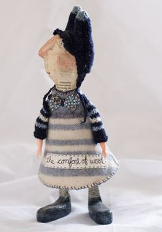 ...a Julie Arkell style 'doll'. She hold workshops all over the country... I think she looks very similar to the amazing art she creates!