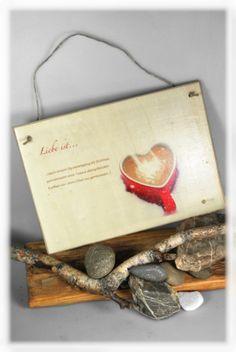 Holzdruck - Liebe ist... / Foto mit Spruch auf Holz - ein Designerstück von DaiSign bei DaWanda