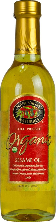 Napa Valley Naturals Cold Pressed Organic Sesame Seed Oil -- 12.7 fl oz