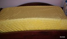 Yellow  Minky Changing Pad Cover