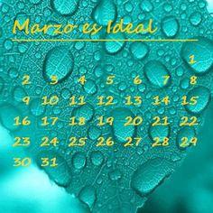 Los mensajes de El Hogar Ideal: Calendario del mes de marzo. elhogarideal.com