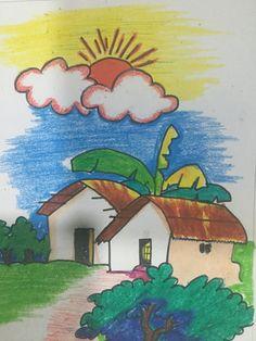 Oil Pastel Paintings, Color Pencil Art, Colored Pencils, Colour, Landscape, Fictional Characters, Colouring Pencils, Color, Scenery