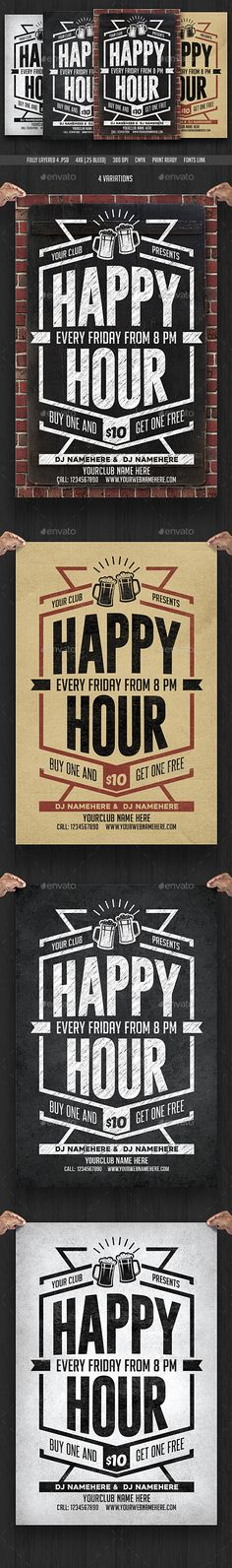 Happy Hour Flyer Happy Hour Flyer Template And Template