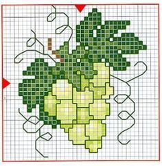 Boli uložené 2 z vašich pinov - tonka. Cross Stitch Fruit, Cross Stitch Kitchen, Cross Stitch Flowers, Hand Embroidery Videos, Ribbon Embroidery, Cross Stitch Embroidery, Cross Stitch Designs, Cross Stitch Patterns, Crochet Shoulder Bags