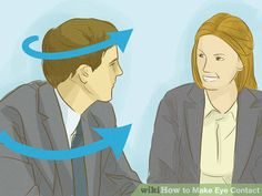 Image titled Make Eye Contact Step 1