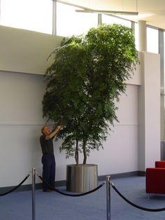 Green Maple Artificial hand built tree