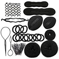 PIXNOR Hair Styling Accessories Kit Set for DIY