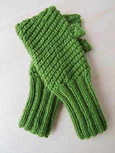 Strickanleitung Grüne Armstulpen