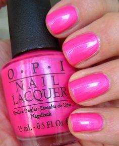Opi Hot Pink Nail Polish Lovely Opi Hotter Than You Pink Neons 2014 Collection Opi Pink Nail Polish, Opi Nail Colors, Nail Lacquer, Hot Pink Nails, Opi Nails, Hot Pink Pedicure, Neon Colors, Vacation Nails, Nagellack Trends