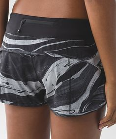 Speed shorts *4-way  Marbled mix speed short white black/black