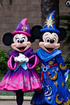 Disney is truly magical! Sorcerer Mickey and Minnie